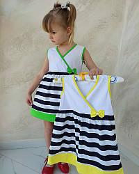 Летнее платье для девочки Полоски