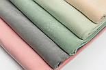 Лоскут велюра х/б светло-фисташкового цвета, размер 35*180  см, фото 6