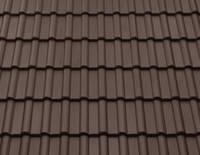 Цементно-песчаная черепица BRAAS Франкфуртская тёмно-коричневый