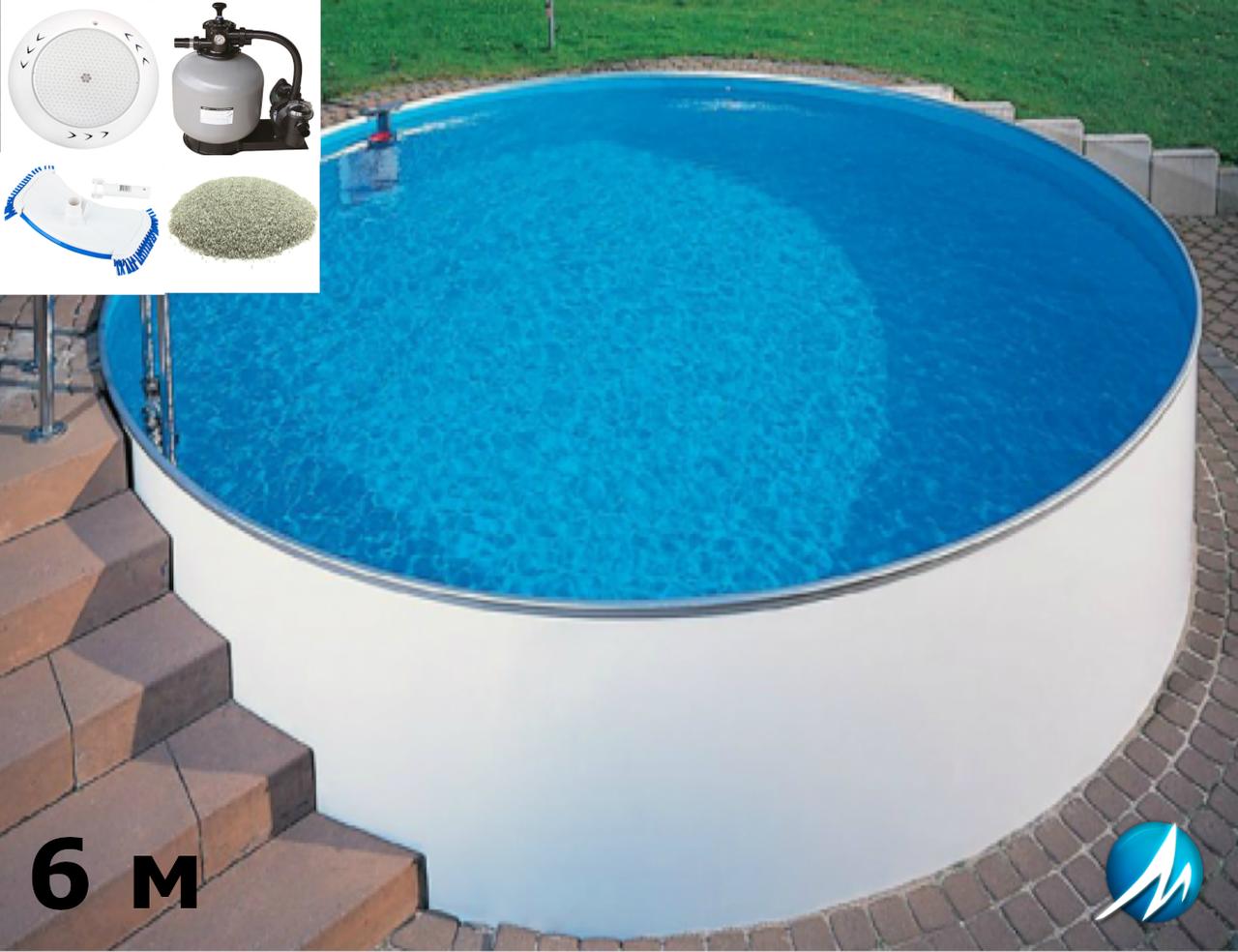 Комплект обладнання для круглого збірного басейну 6 м