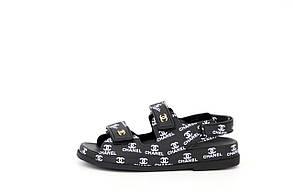 Женские сандалиии Chanel Dad sandals Black Logo