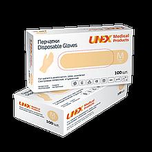 Перчатки латексные опудренные Unex размер М