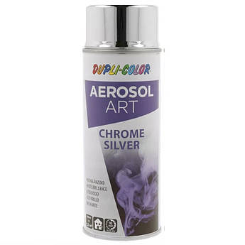 Краска (эмаль) декоративная с эффектом хром Dupli Color Art, 400 мл Аэрозоль Серебро