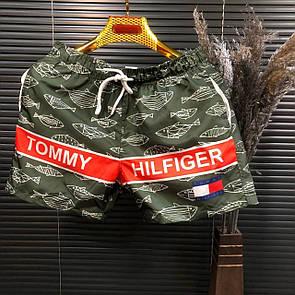 Пляжные мужские шорты Tommy Hilfiger,Хаки