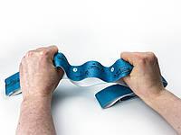 Эспандер лента с петлями (для растяжки) резиновая эластическая лента эспандер с цифрами 8 петель [синий]