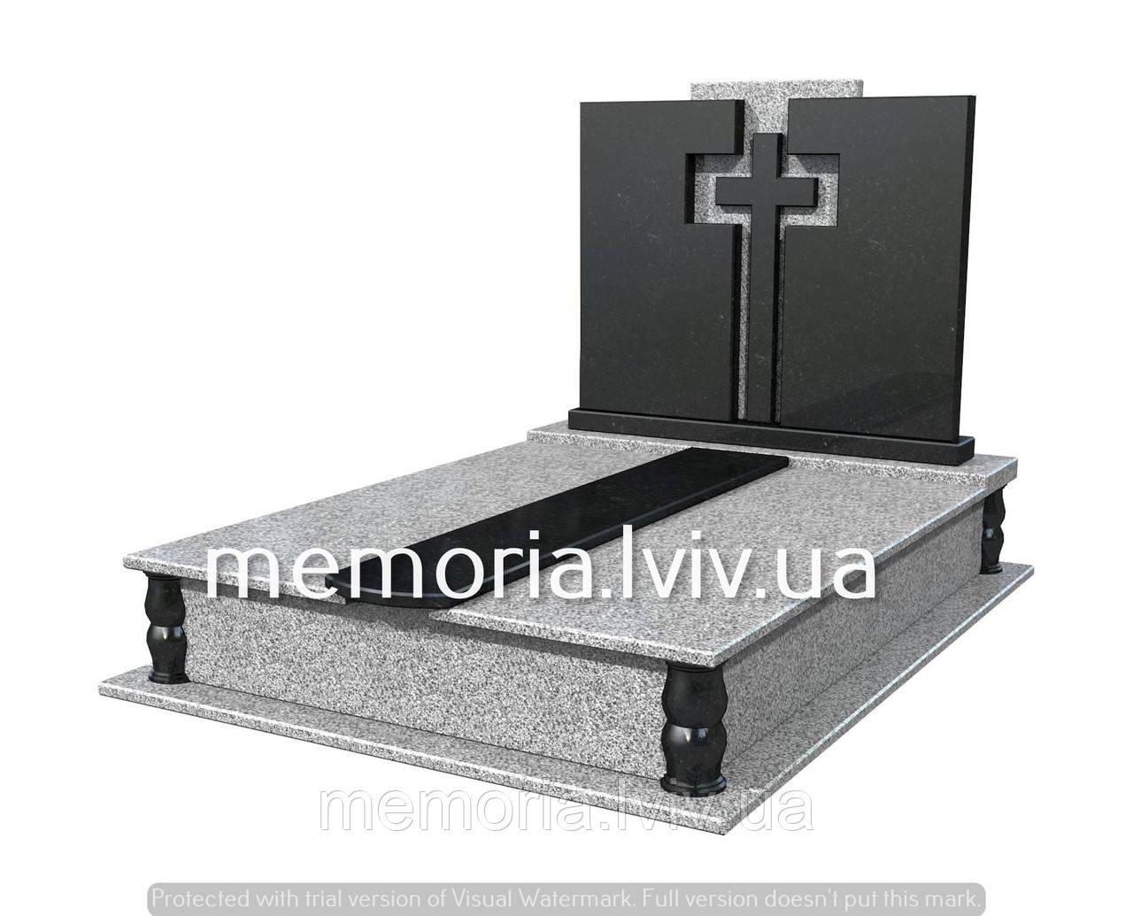 Подвійний гранітній пам'ятник П207