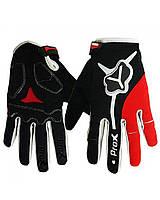 Рукавички (велоперчатки) ProX Utah, чорно-червоні, розмір M