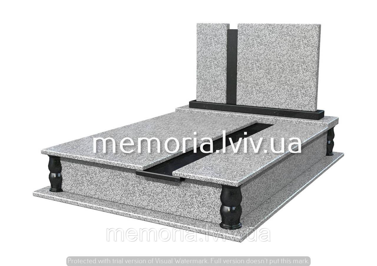 Подвійний гранітній пам'ятник П208