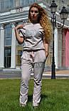 """Жіночий спортивний літній костюм """"Megi"""" з трикотажу (Туреччина); розм 44, 46,48,50, 2 кольори, фото 2"""