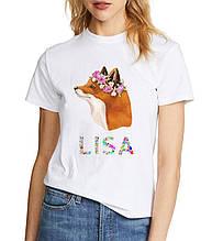 Женская футболка с принтом лиса