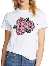 Женская футболка с принтом роза