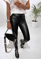 Жіночі стильні футболки з еко-шкіри, фото 1