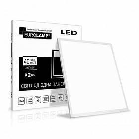 LED панель EUROLAMP 60*60 40W 5000K 4400Lm 2шт белая рамка LED-Panel-40/50(110)(2) (светодиодный светильник)