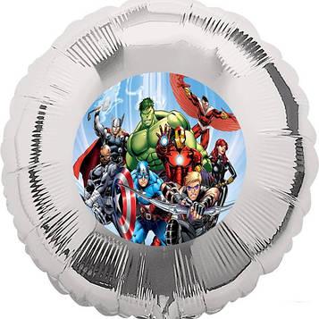 """""""Мстители"""" - Наклейка На шарик 140 мм."""
