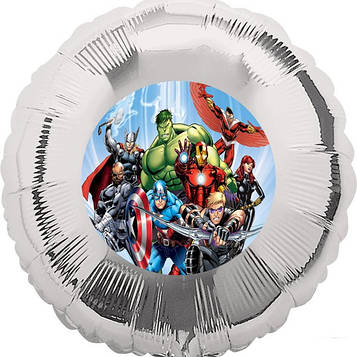 """Мстители"" - Наліпка На кульку 140 мм."