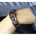Мужской браслет плетений з натуральної шкіри ручної роботи, фото 3