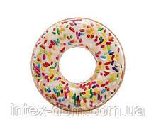 Надувной круг Intex 56263 «Пончик с присыпкой», 114 см