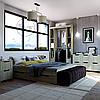 Шкаф -16 для спальни без дверок и зеркал ДСП / КОМПАНИТ