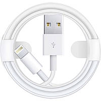 Кабель USB Apple Lightning 1м для iPhone Білий, фото 1