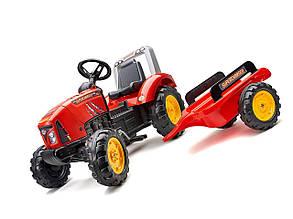 Педальний Трактор з причепом червоний Falk 2020AB