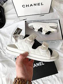 Женские сандалиии Chanel Sandals White Leather