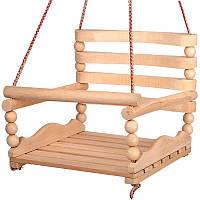 """Детские деревянные качели №2 K-0159 """"БУК"""" Подвесные качели из дерева для дома и квартиры для детей"""