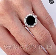 Кільце в сріблі з білим кубічним цирконом Меган