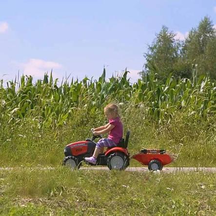 Трактор педальный с прицепом Case IH Falk 961B, фото 2