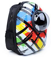 Рюкзак - переноска с иллюминатором для кошек и собак (Цветной)