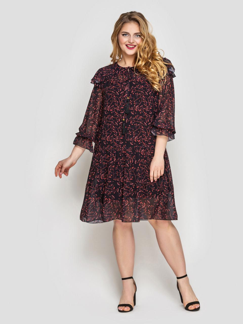 Летнее платье Валенсия черное