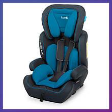 Автокресло-бустер 2 в 1 для детей от 1 года до 12 лет Isofix Bambi M 4250 Blue голубое