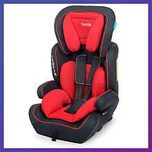 Автокресло-бустер 2 в 1 для детей от 1 года до 12 лет Isofix Bambi M 4250 Red красное