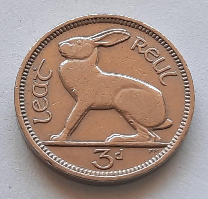 Ирландия 3 пенса 1963