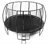 Батут TK-Sport С-20255 (1) диаметр 244 см, с защитной сеткой, на пружинах 48 шт, опоры 3 шт, лестница, в