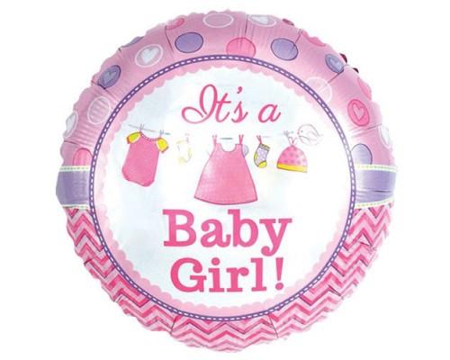 "Фольгована кулька ""It`s a girl"" 18"""