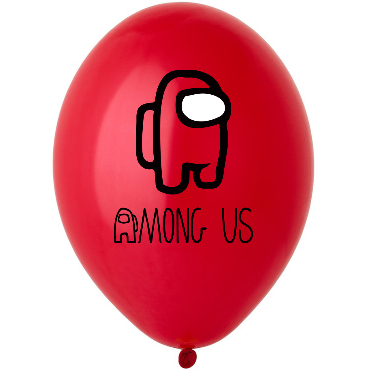 "Латексна кулька 12"" оранжева з  малюнком ""Among us"" (BelBal)"
