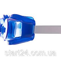 Очки для плавания детские с берушами и клипсой для носа в комплекте 0403 (пластик, PVC, цвета в ассортименте), фото 2