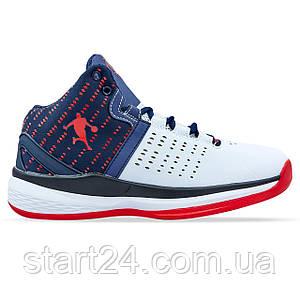 Кроссовки баскетбольные Jordan 0707-2 размер 41-45 белый-темно-синий