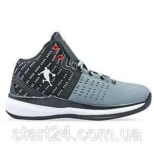 Кроссовки баскетбольные Jordan 0707-3 размер 41-45 серый-черный