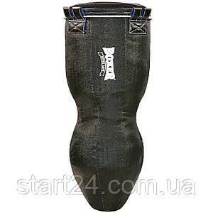 Мешок боксерский Силуэт Кирза h-120см BOXER 1024-01 (наполнитель-ветошь х-б, черный)
