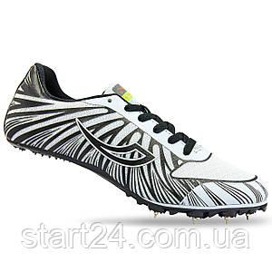 Шиповки бігові Shenya 1188-1 розмір 36-45 сірий-чорний
