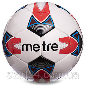 Мяч футбольный №4 PU ламин. METRE 1733,1734,1735 (№5, 5 сл., сшит вручную, цвета в ассортименте)