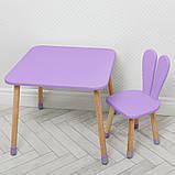 Дитячий дерев'яний столик і стільчик 04-025VIOLET фіолетовий, фото 2