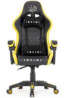 Кресло игровое офисное Infini ЧОРНО_ЖОВТЕ Крісло спортивне ігрове крісло Стул геймерский Геймерське крісло
