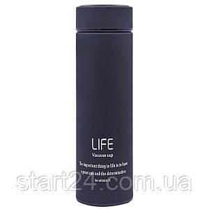 Термос стальной 450ml LIFE D-013 (сталь, цвета в ассортименте)