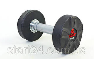 Гантель цельная профессиональная ZELART (1шт) DB6112-17,5 17,5кг (полиуретановое покрытие, вес 17,5кг)