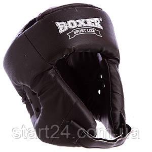 Шлем боксерский открытый с усиленной защитой макушки Кожвинил BOXER 2030 (р-р M-XL, цвета в ассортименте)