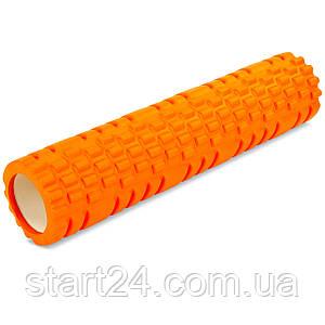 Ролер для занять йогою і пілатесом Grid Combi Roller l-61см FI-6673 (d-14см, l-61см, кольори в асортименті)