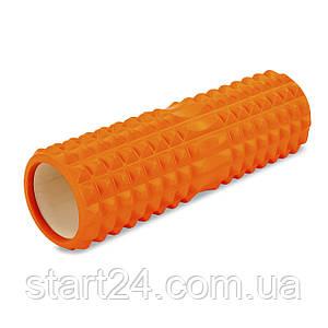 Ролер для занять йогою і пілатесом Grid Spine Roller l-45см FI-6674 (d-14см, l-45см, кольори в асортименті)