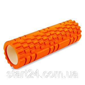 Роллер для занятий йогой и пилатесом Grid Combi Roller l-45см FI-6675 (d-14см, l-45см, цвета в ассортименте)
